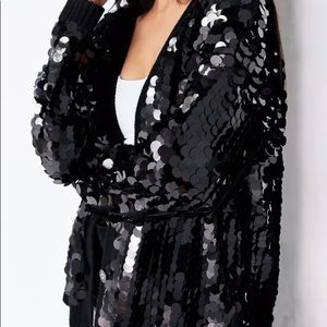 silence noise Urban Outfitters large sequin jacket